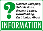 Information about ordering, shipping, review copies, submissions, distributor, downloads