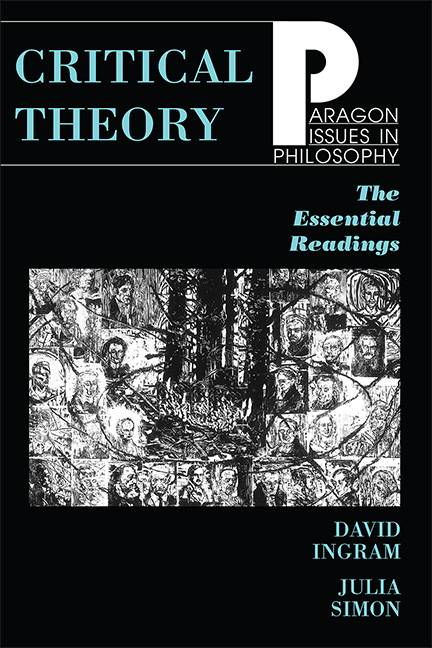 Critical Theory: The Essential Readings