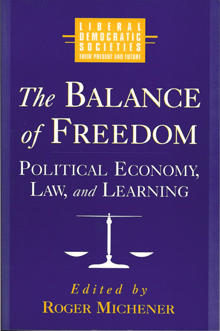 Balance of Freedom, The: Political Economy, Law and Learning