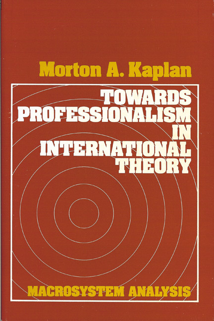 Towards Professionalism in International Theory