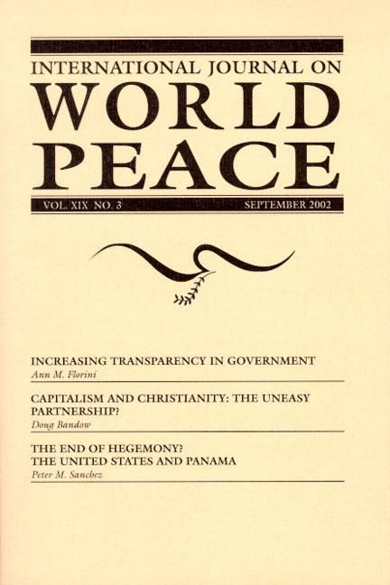 International Journal on World Peace (IJWP), Back Issues, Hard Copy