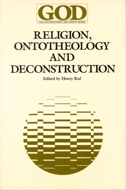 Religion, Ontotheology and Deconstruction