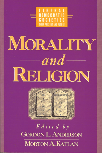 Morality and Religion in Liberal Democratic Societies