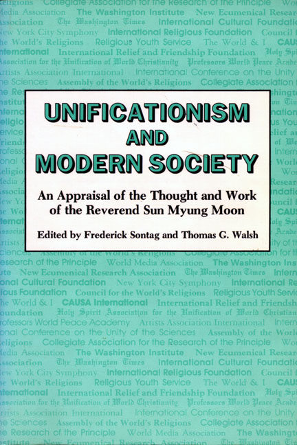Unificationism and Modern Society