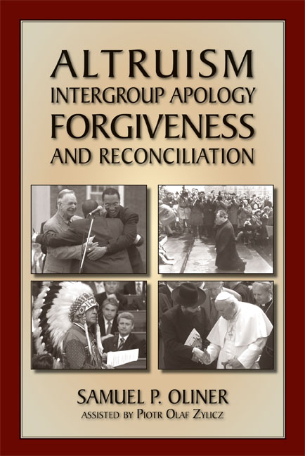 Altruism, Intergroup Apology, Forgiveness, and Reconciliation
