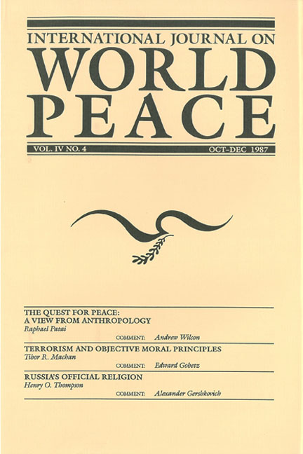 IJWP, 4:4, December 1987